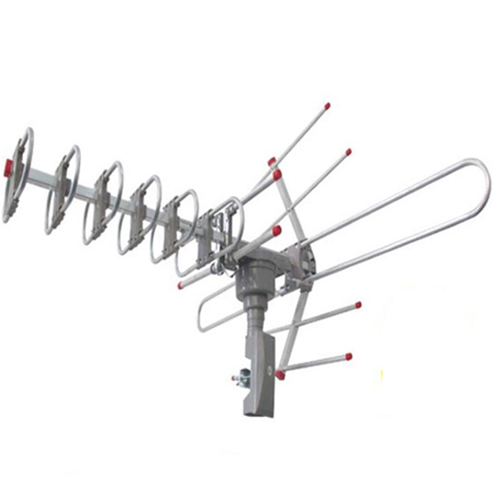 popular hdtv outdoor amplified antenna hd tv 36db rotor