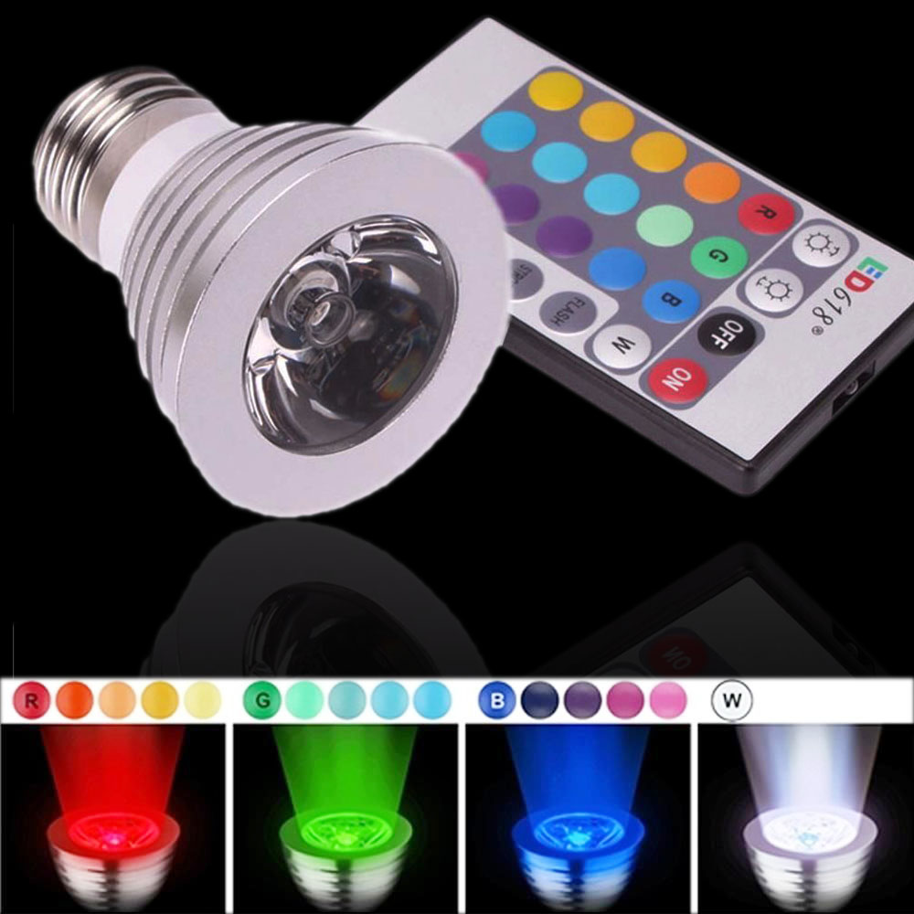 e27 16 color magic changing 5 model 3w rgb led light bulb lamp ir remote control ebay. Black Bedroom Furniture Sets. Home Design Ideas